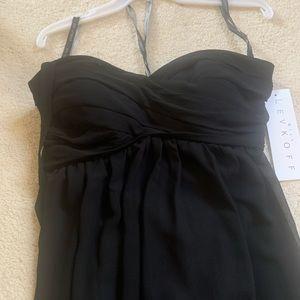 Black floor length strapless evening gown STUNNING
